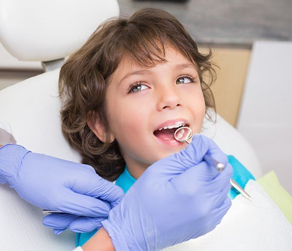 Young patient during children's dentistry visit
