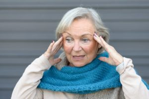 older woman suffering from Alzheimer's disease
